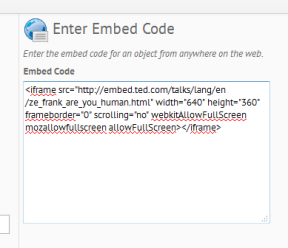embed code 8