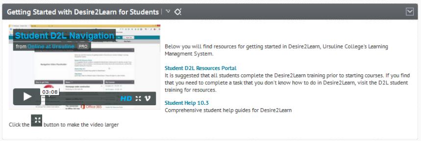 d2l student